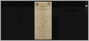 menu d'un repas de 1924